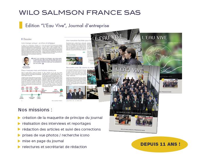 Journal d'entreprise Eau Vive Wilo Salmson Odalis